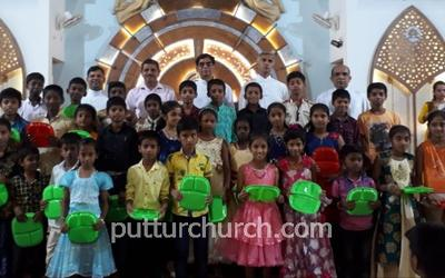 Sunday Catechism day held at Mai De Deus Church Puttur