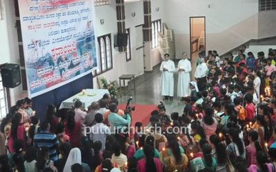 Puttur Parishioners pay tribute to martyrs of Pulwama Attack